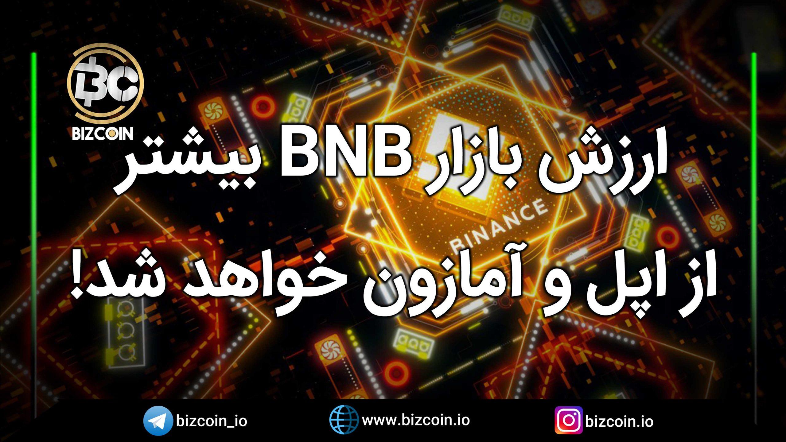 ارزش بازار BNB بیشتر از اپل و آمازون خواهد شد!