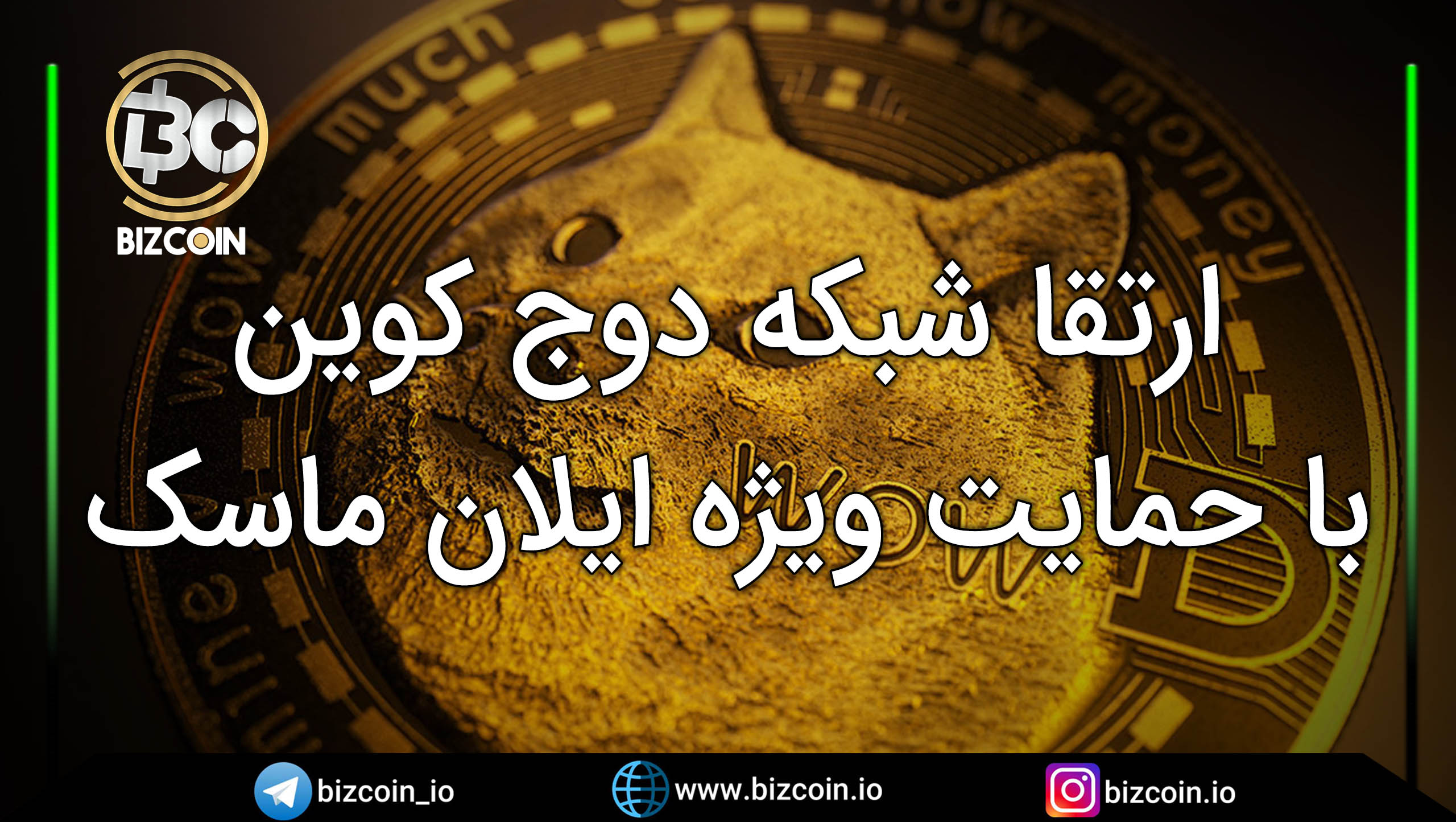 dogecoin network upgrade with special support from elon Musk ارتقا شبکه دوج کوین با حمایت ویژه ایلان ماسک